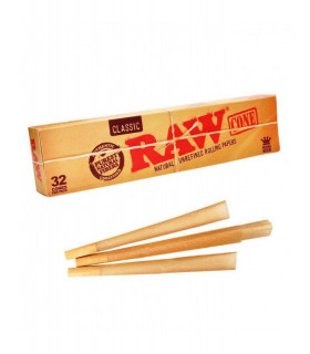 PACK 32 CONES RAW KING SIZE
